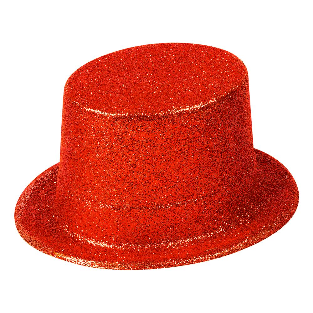 Höghatt Glitter Röd - One size