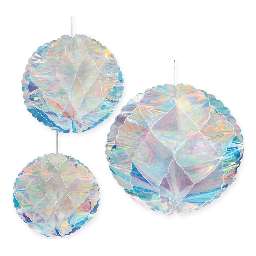 Honeycomb Bollar Holografiska - 3-pack