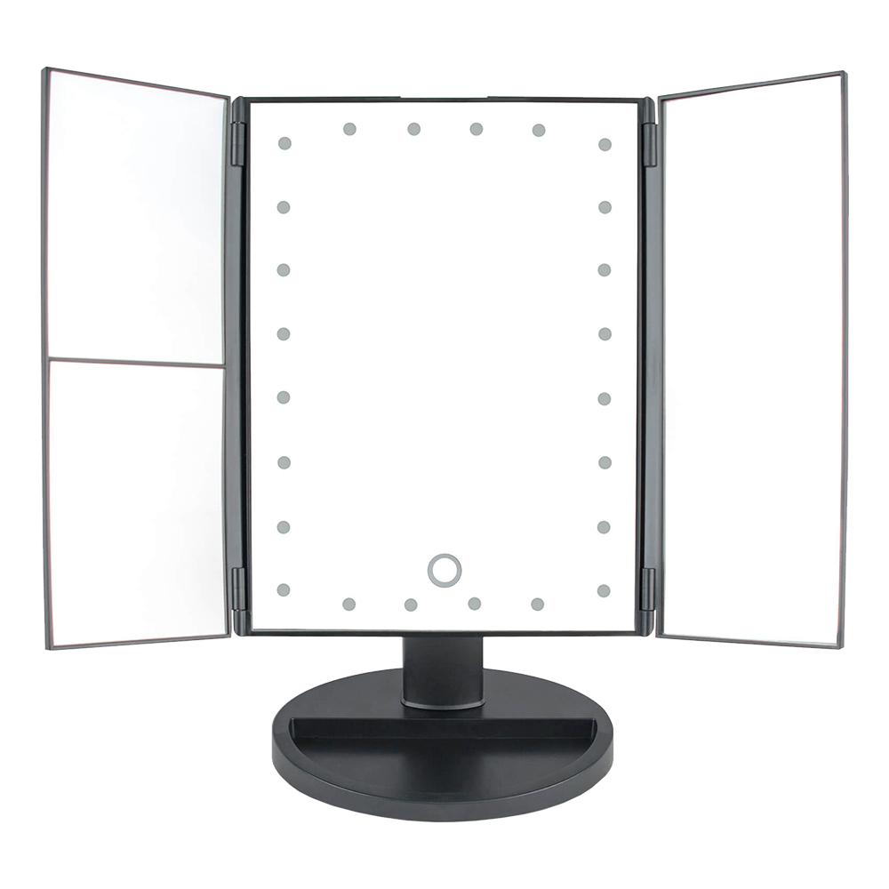 Hopfällbar Touchscreen LED Sminkspegel