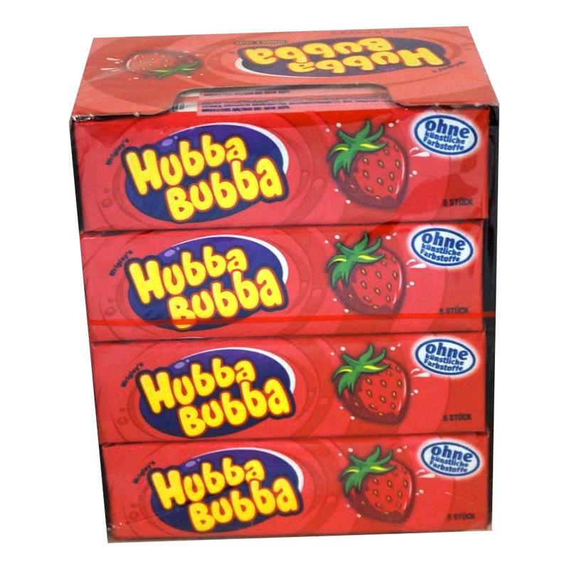 Hubba Bubba Jordgubbe - 20-pack