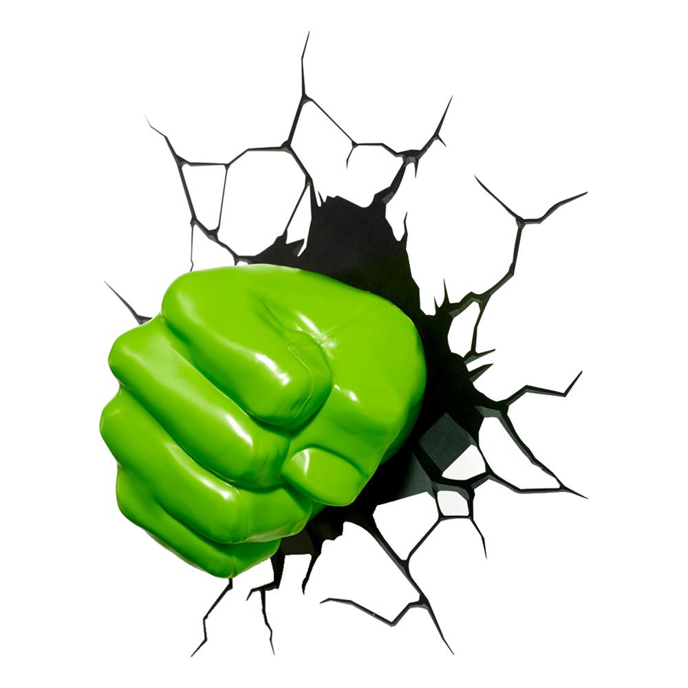 Hulken 3D Vägglampa