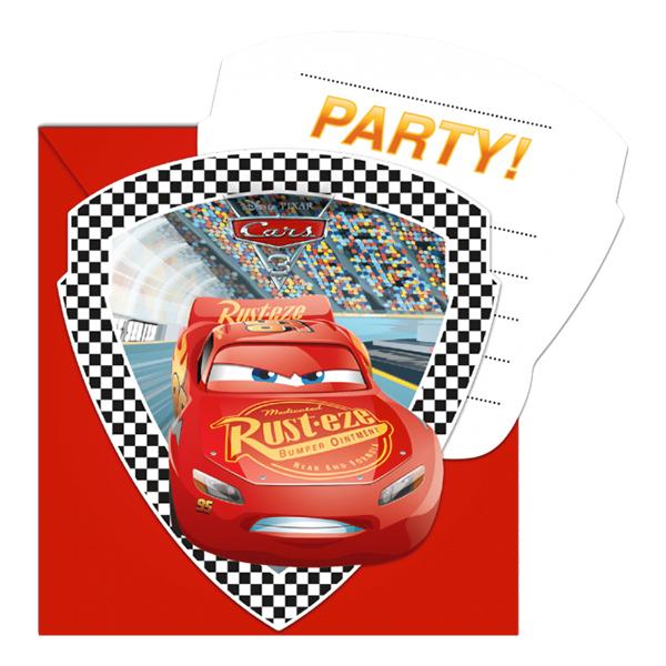 Inbjudningskort Bilar/Cars