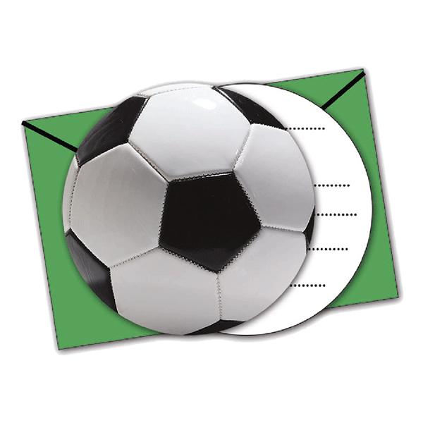 Inbjudningskort Fotboll Kontur - 6-pack
