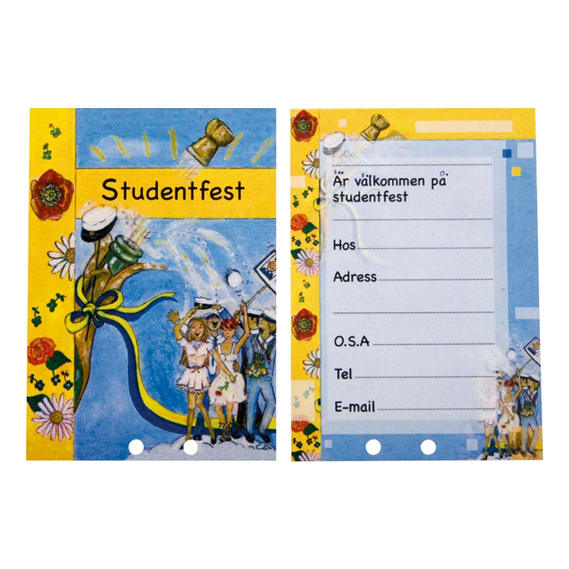 Inbjudningskort på Block Studentfest - 25-pack