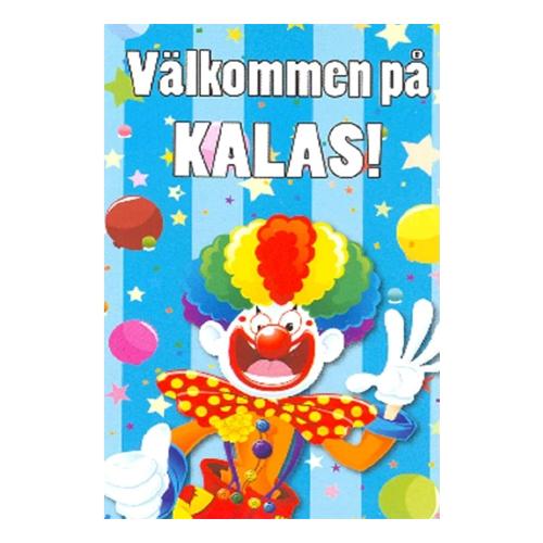 Inbjudningskort Välkommen på Kalas