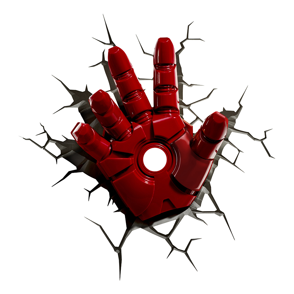 Iron Man Hand 3D Vägglampa