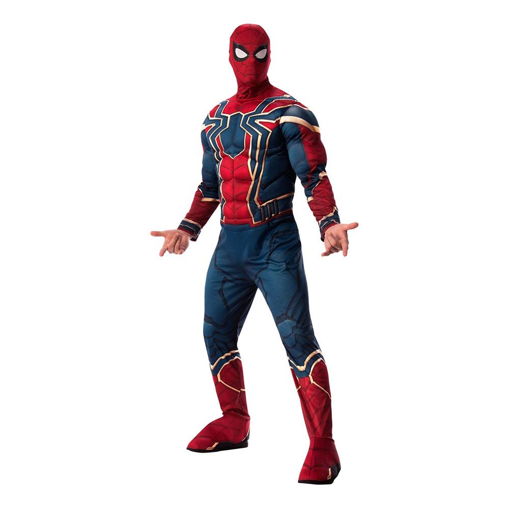 Iron Spiderman Deluxe Maskeraddräkt - Standard