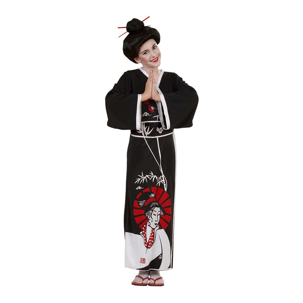 Japansk Geisha Barn Maskeraddräkt - Large