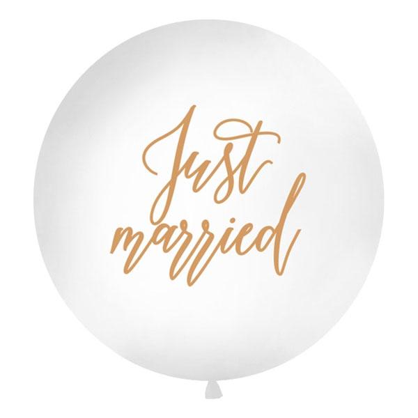 Jätteballonger - Jätteballong Just Married