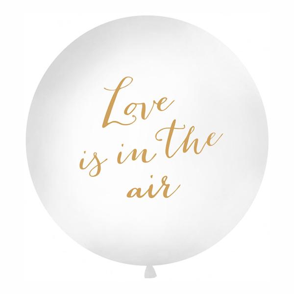 Jätteballong Love Is In The Air Guld