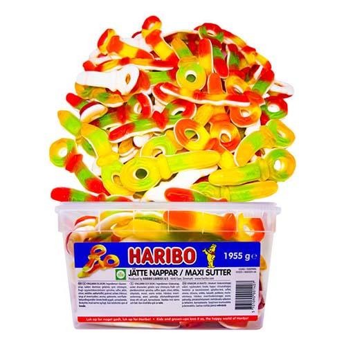 Jättenappar Frukt Lösvikt i Burk - 2.5 kg
