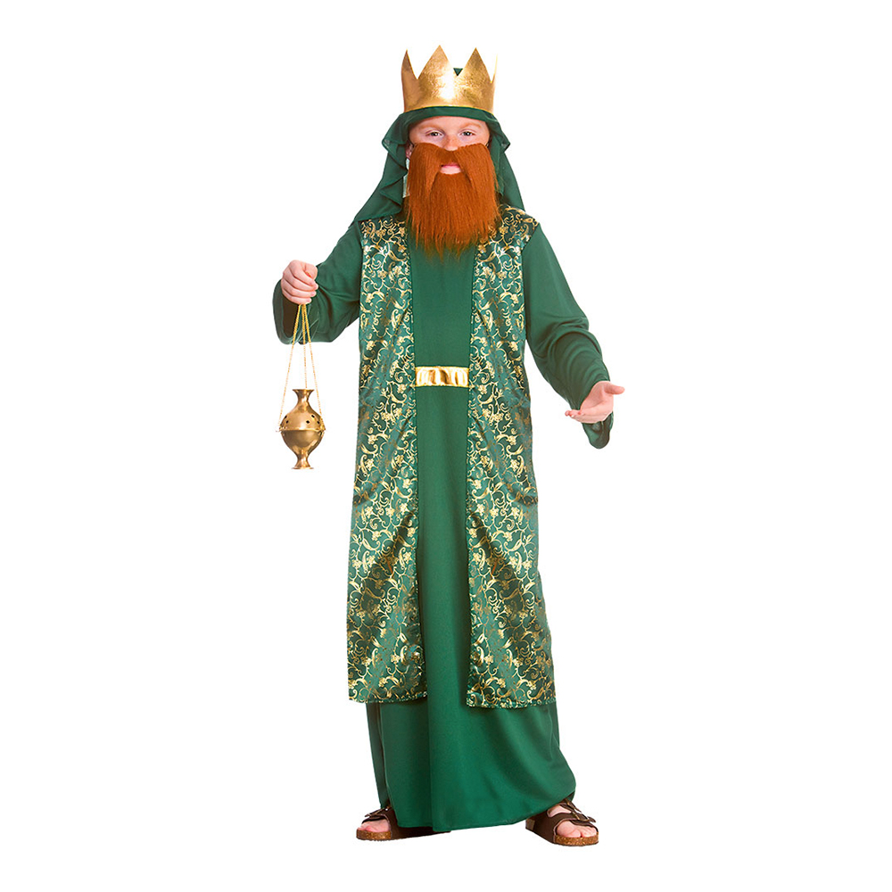 Jesu Födelse Vis Man Grön Barn Maskeraddräkt - Small