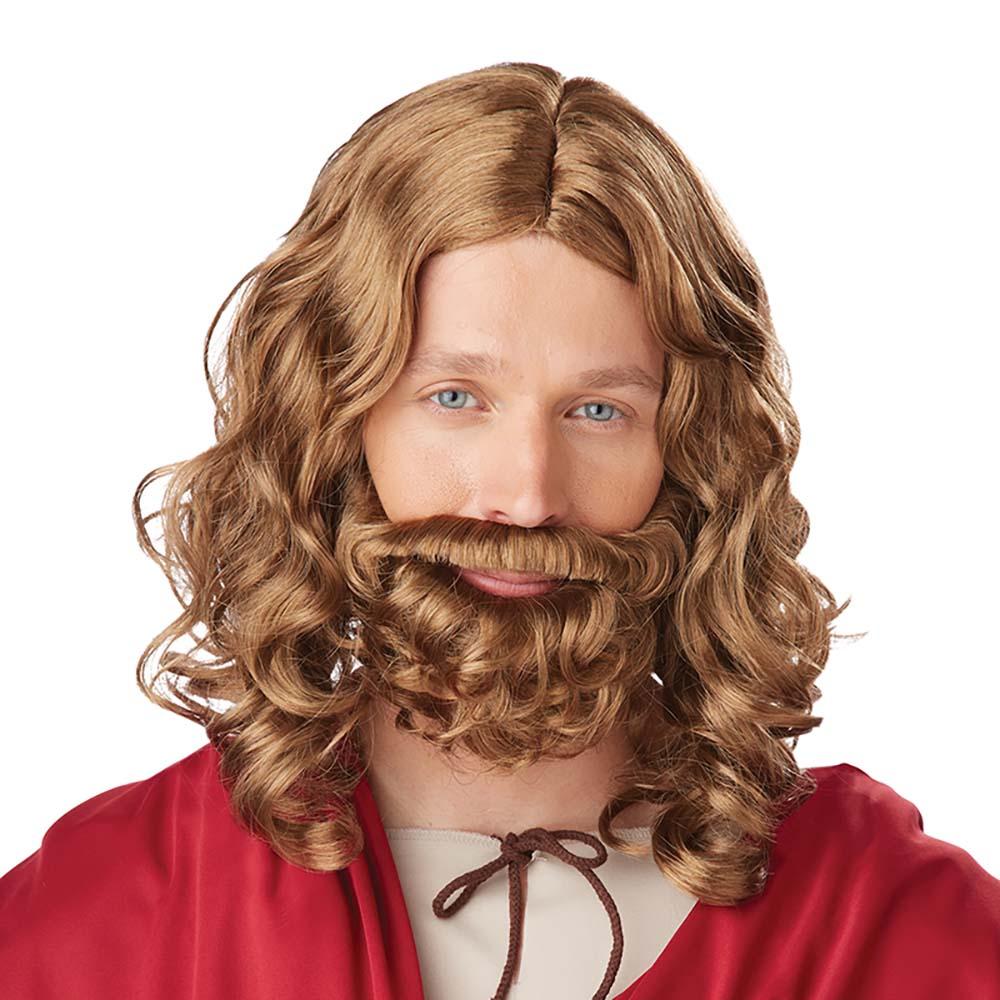 Jesus Brun Perukset - One size
