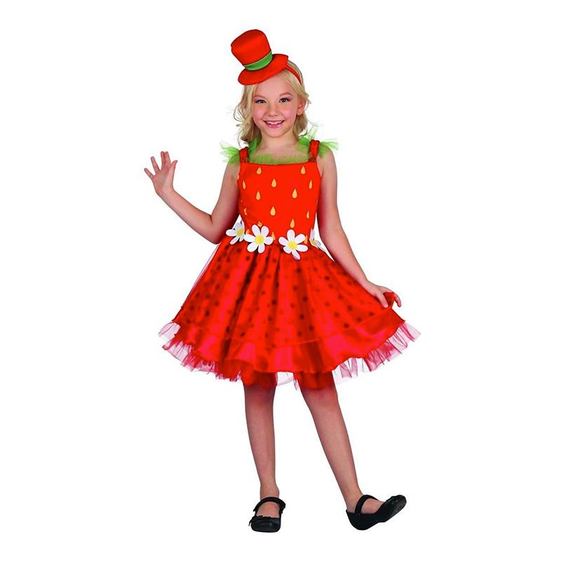 Utklädningsdräkter - Jordgubbe Klänning Barn Maskeraddräkt - Small