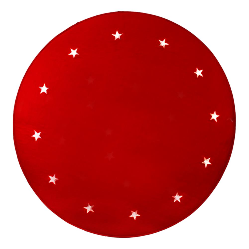 Julgransmatta med LED-lampor - Röd