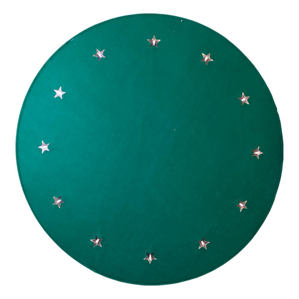 Julgransmatta med LED-lampor - Grön
