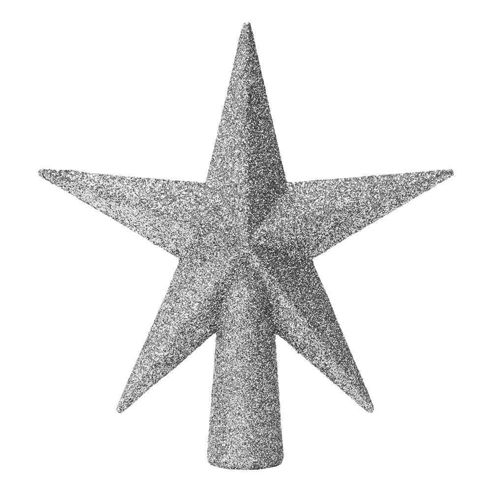 Julgransstjärna Silver Glitter