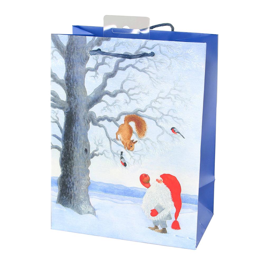 Julpåse Tomte med Ekorre - 1-pack