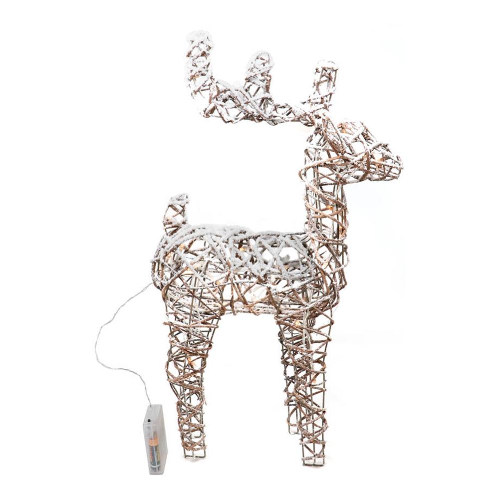 Julren med Snö LED - 48 cm