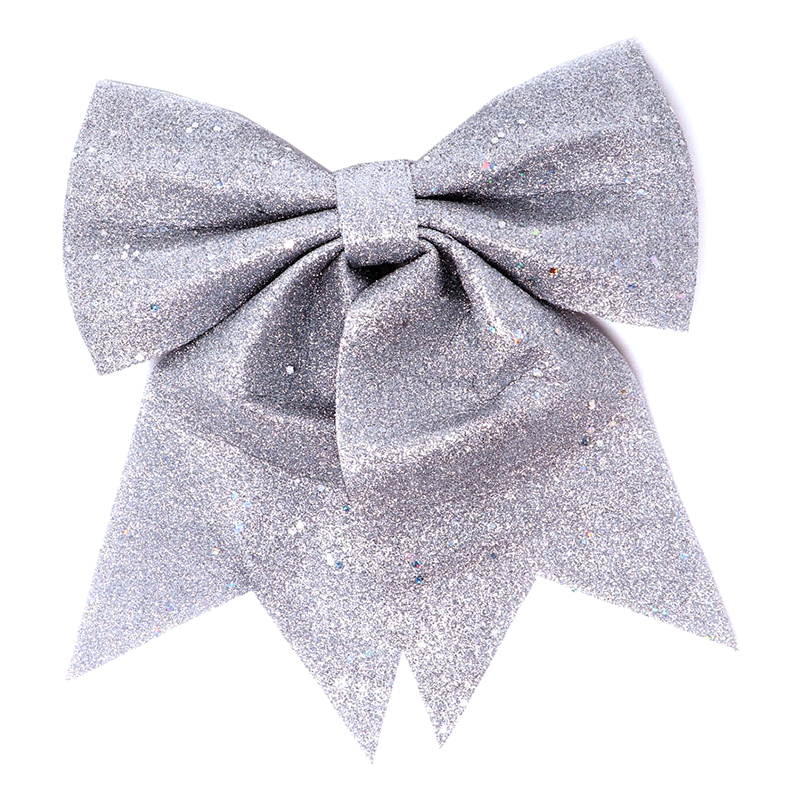 Julrosett Silver Glitter - 25 cm