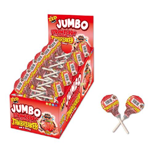 Jumbo Jawbreaker Jordgubb Godisklubba