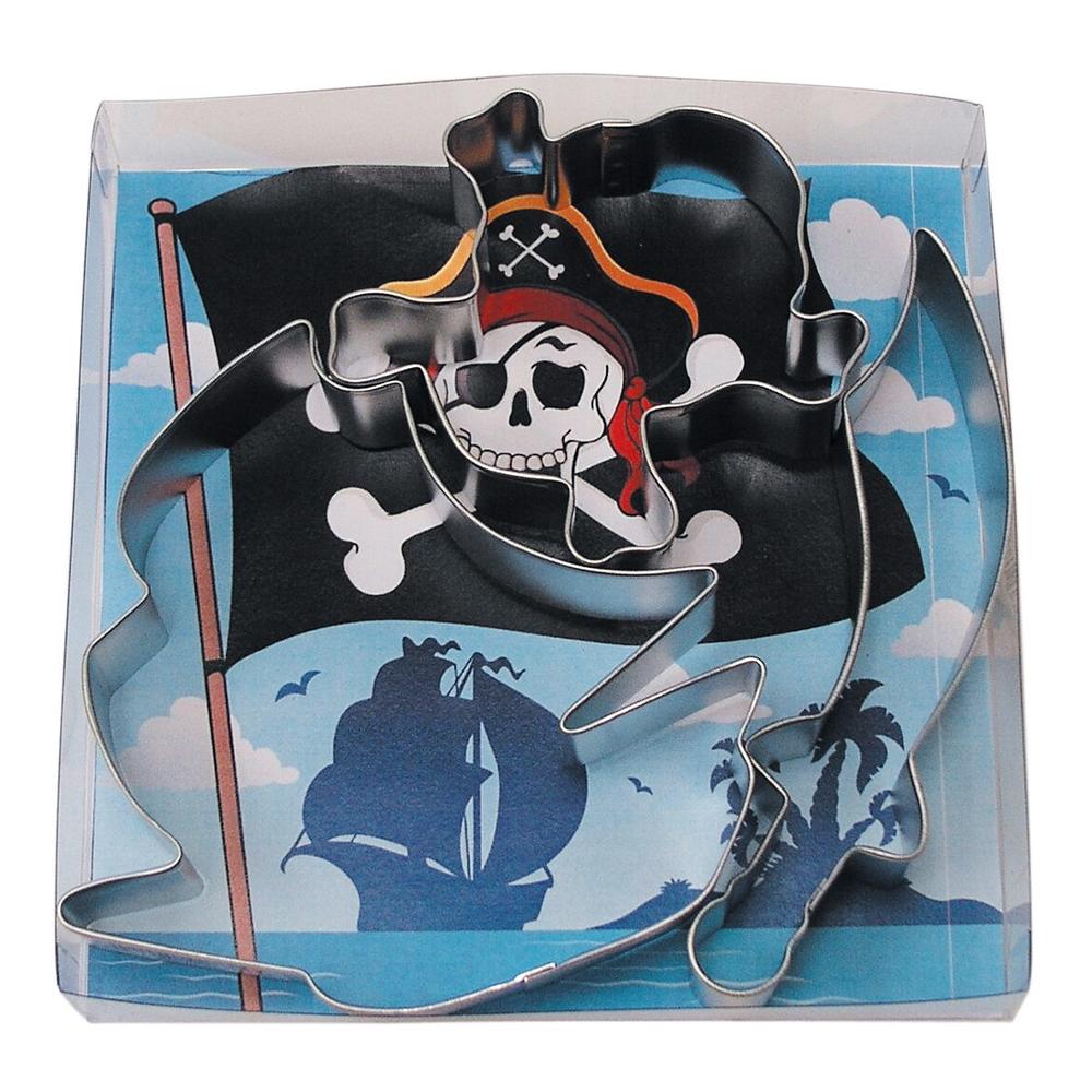 Kakform Piratskepp - 3-pack