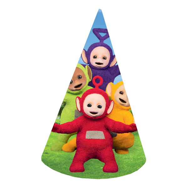 Partyhattar Teletubbies - 8-pack