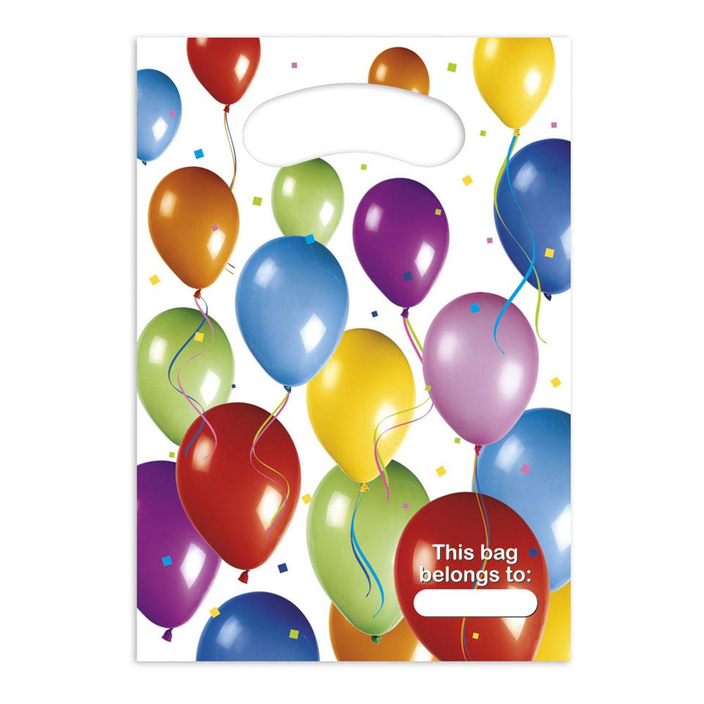 Kalaspåsar Ballonger Flerfärgade - 6-pack