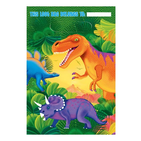Dinosaurie - Kalaspåsar Dinosaurier - 8-pack