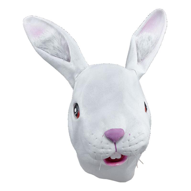 Gummimasker - Kaninmask i Gummi - One size