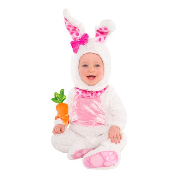 Kanindräkter för bebisar - Kanin Vit Bebis Maskeraddräkt - Small