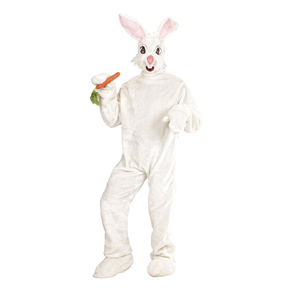 Kanin Vit Deluxe Maskeraddräkt - One size