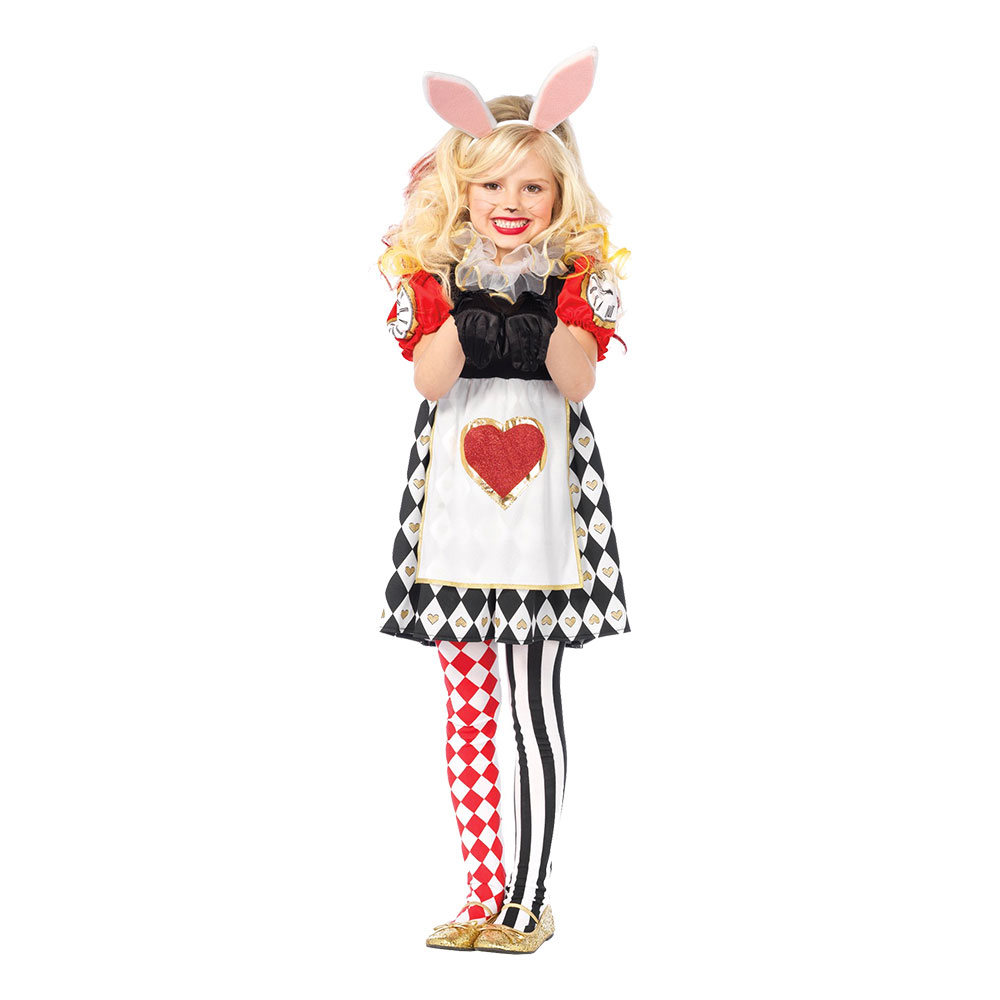 Kanindräkter - Kanin Wonderland Barn Deluxe Maskeraddräkt - X-Small