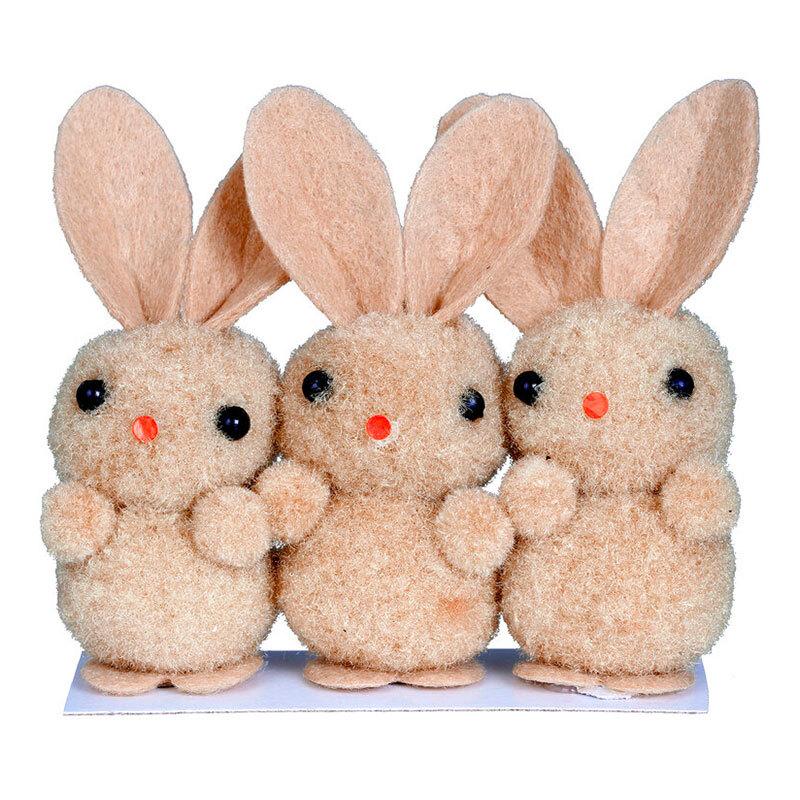 Kanin-produkter - Kaniner Påskdekoration Beige - 3-pack