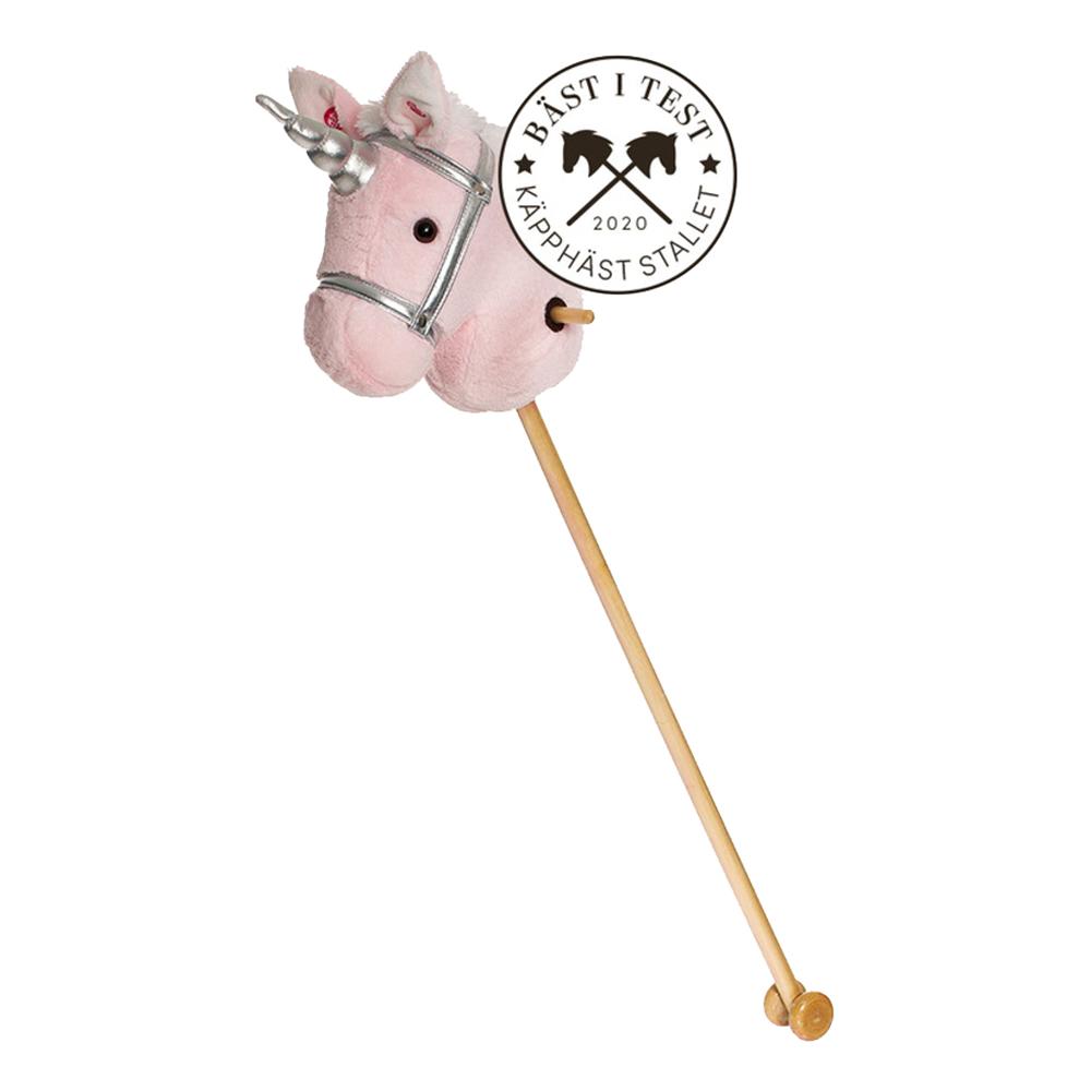 Käpphäst Enhörning Rosa - 100 cm