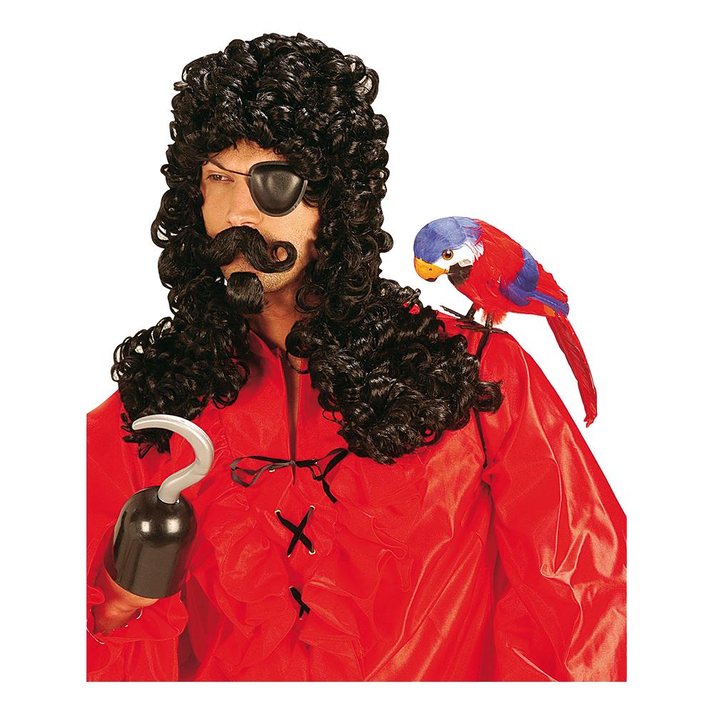 Kapten Krok Peruk med Mustasch - One size