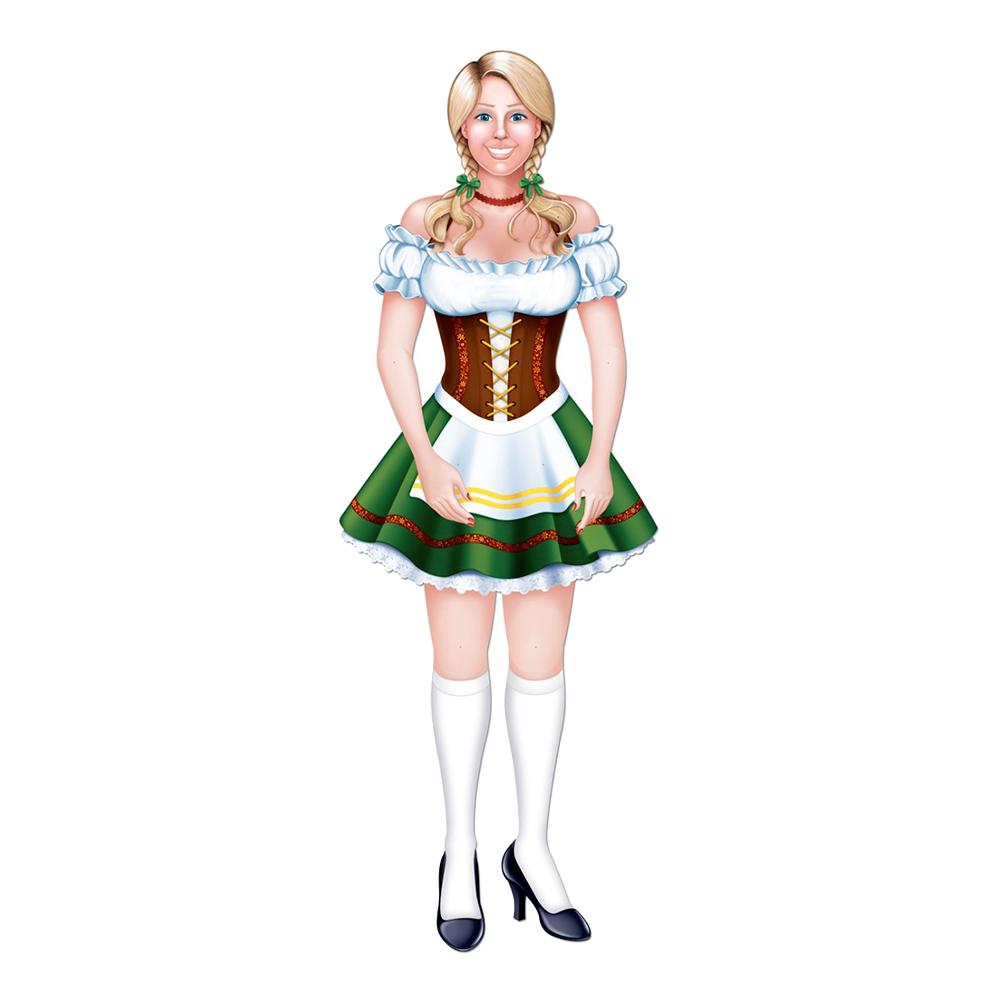 Kartongfigur Mrs Oktoberfest