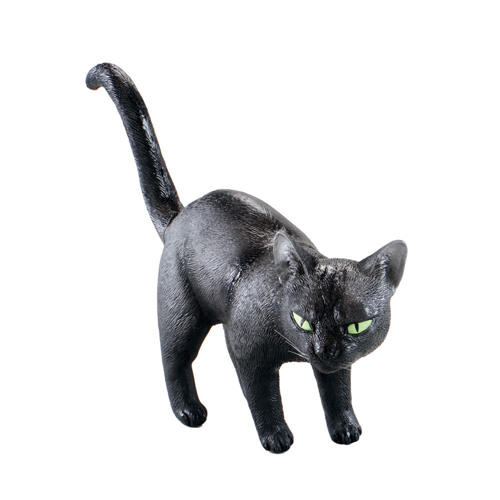Svart Katt i Gummi - One size