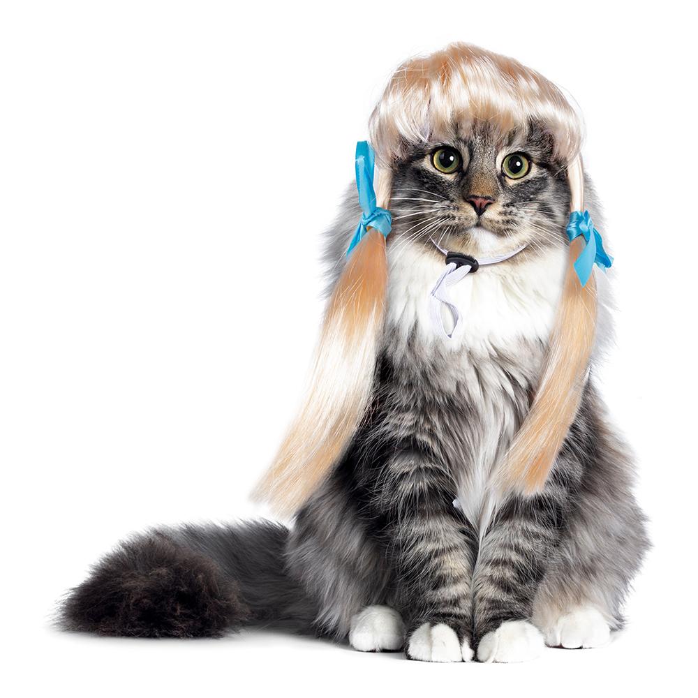 Kattperuk Blond - One size