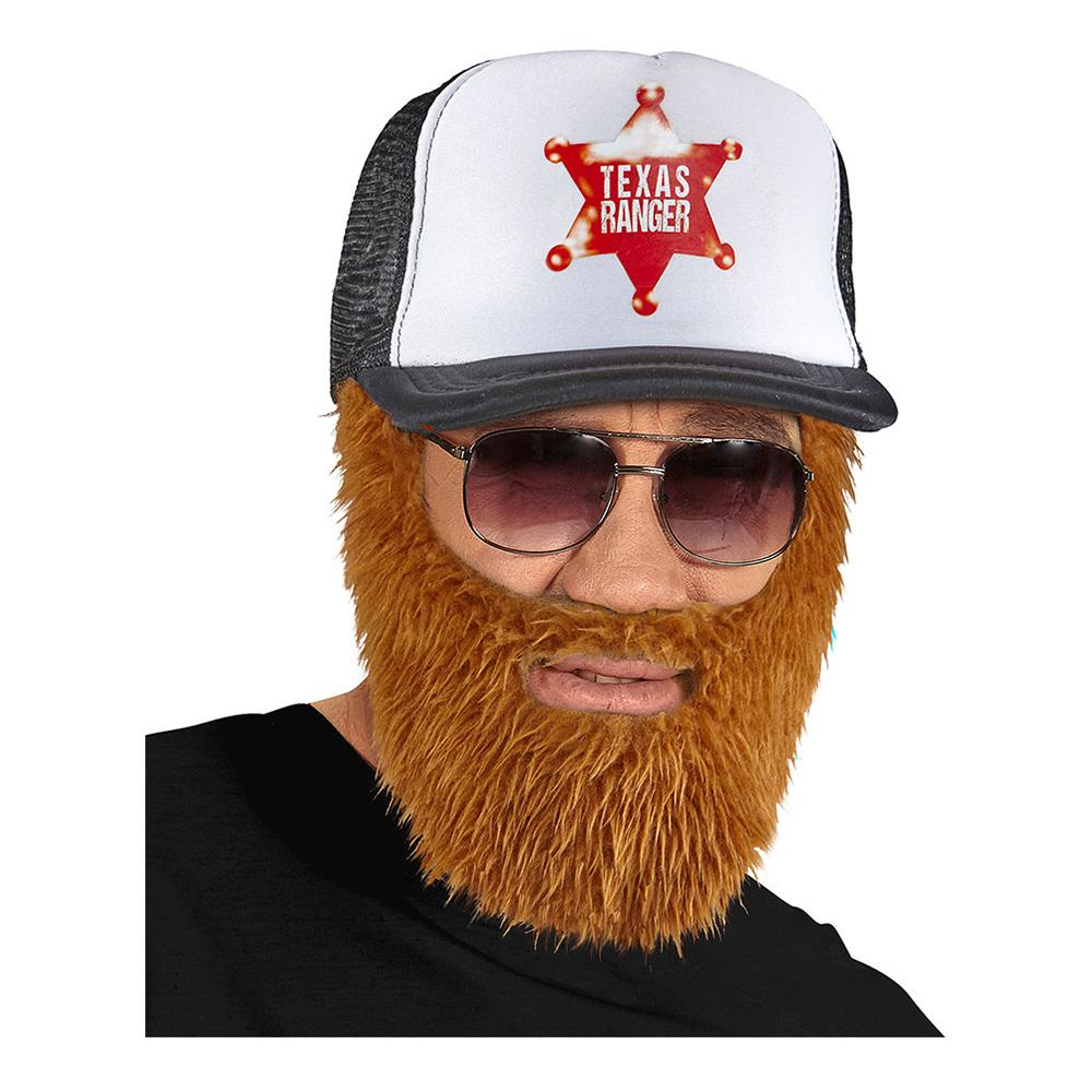 Keps Texas Ranger med Skägg - One size