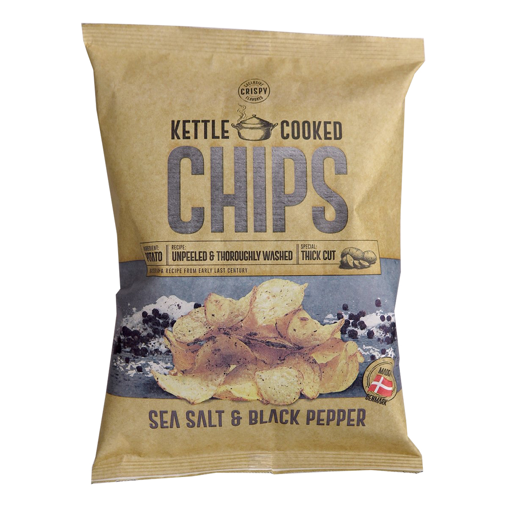 Kettle Cooked Salt & Peppar Chips - 150 gram
