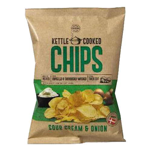 Kettle Cooked Sourcream & Onion Chips - 150 gram