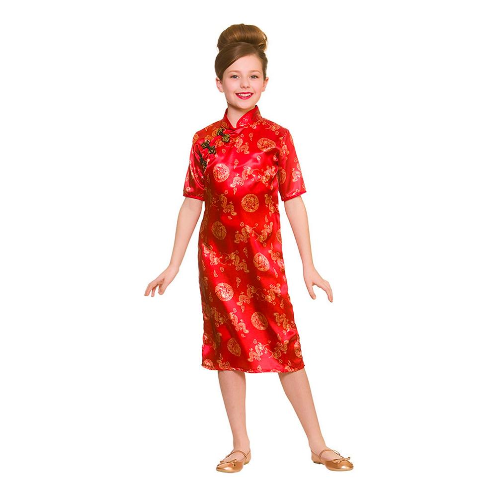 Utklädningsdräkter - Kinesisk Flicka Barn Maskeraddräkt - Large