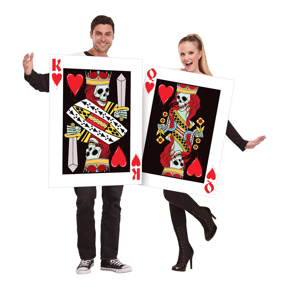 King & Queen Of Hearts Maskeraddräkter - One size