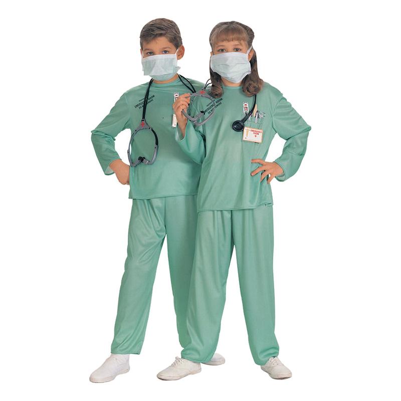 Utklädningsdräkter - Kirurg Barn Maskeraddräkt - Small