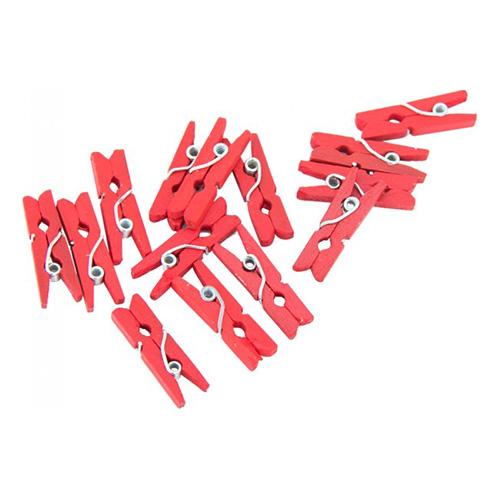 Klädnypor Mini Röd - 24-pack
