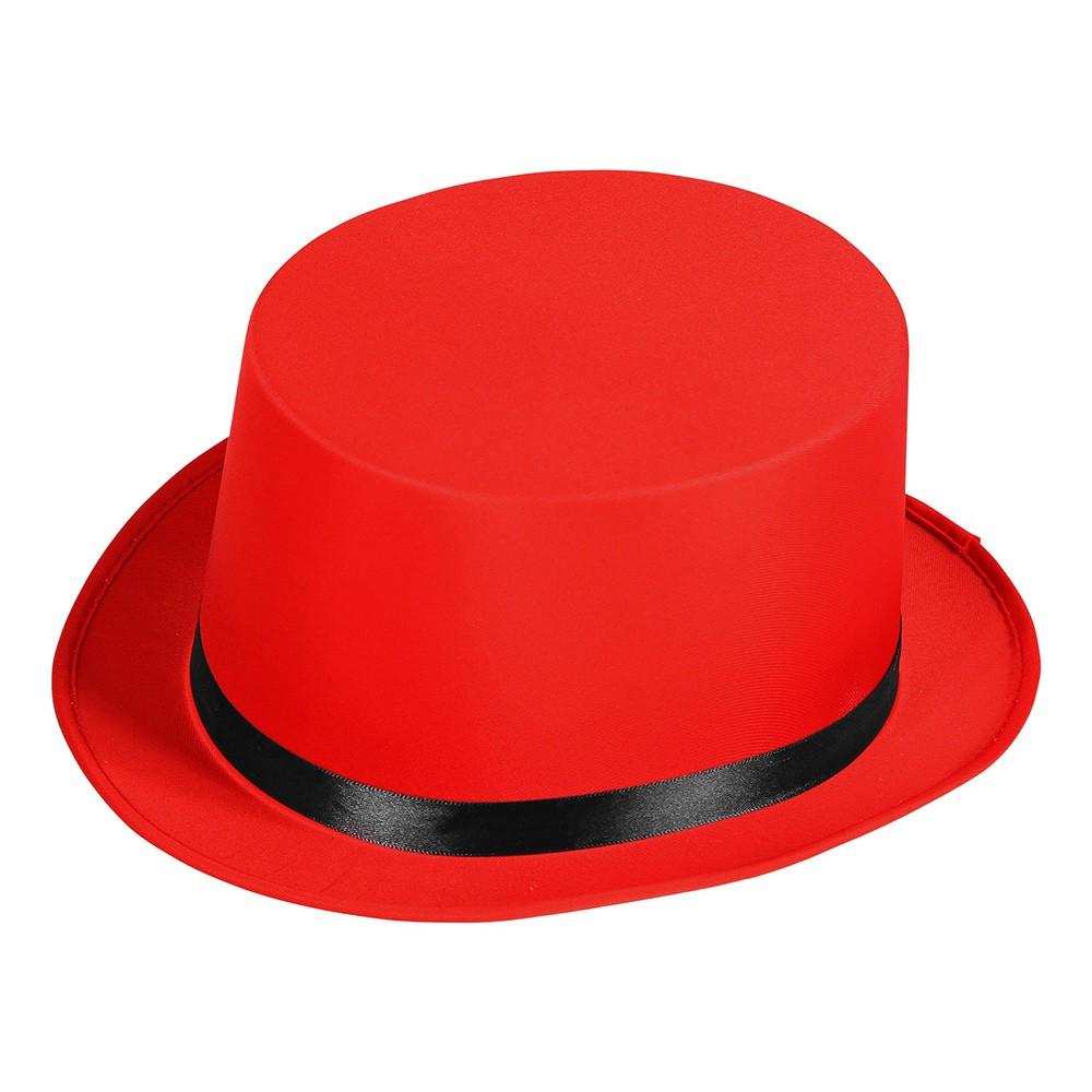 Klassisk Höghatt Röd - One size