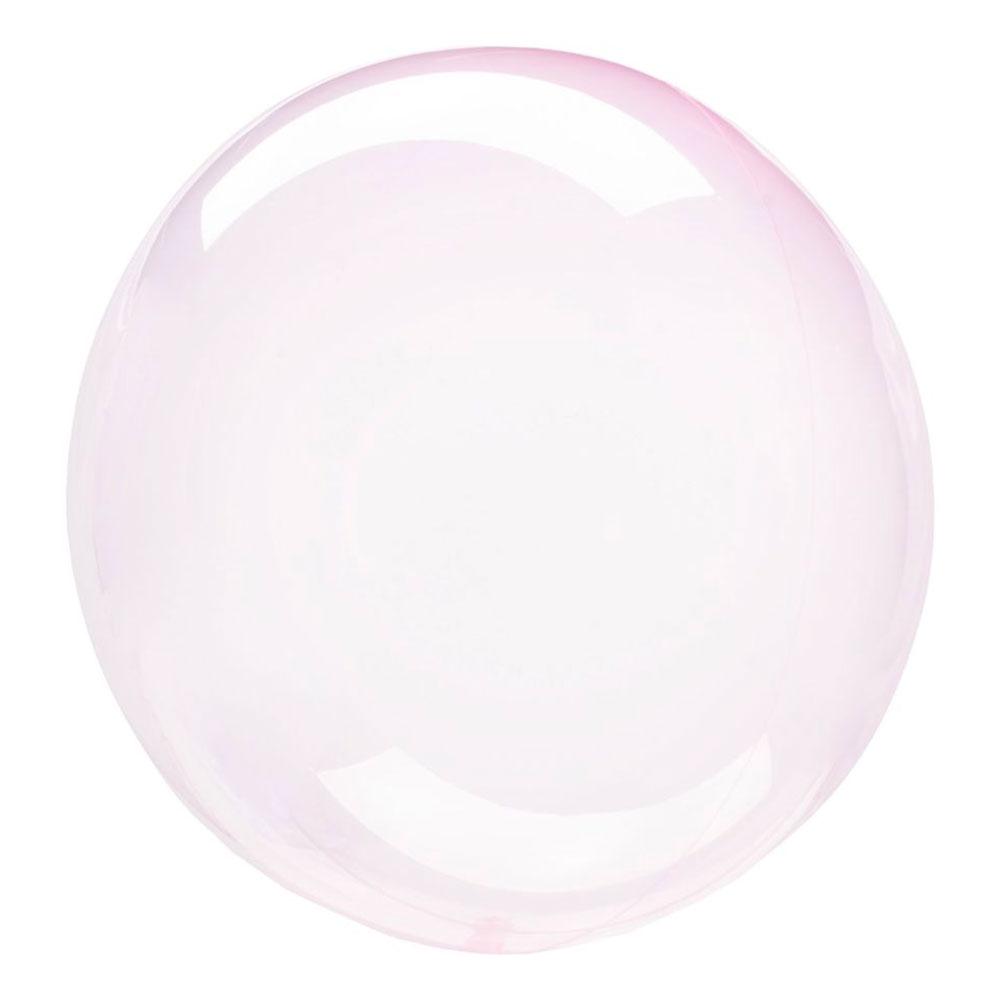 Klotballong Ljusrosa Transparent - 1-pack