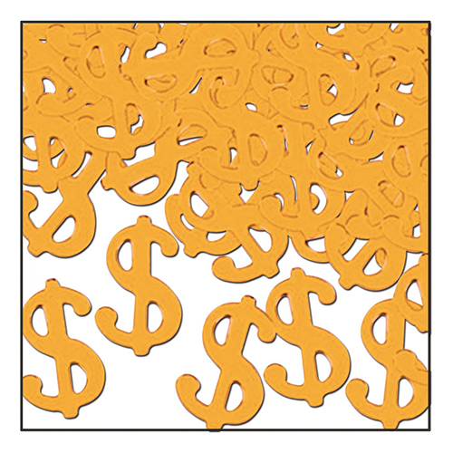 Konfetti Dollartecken Guld