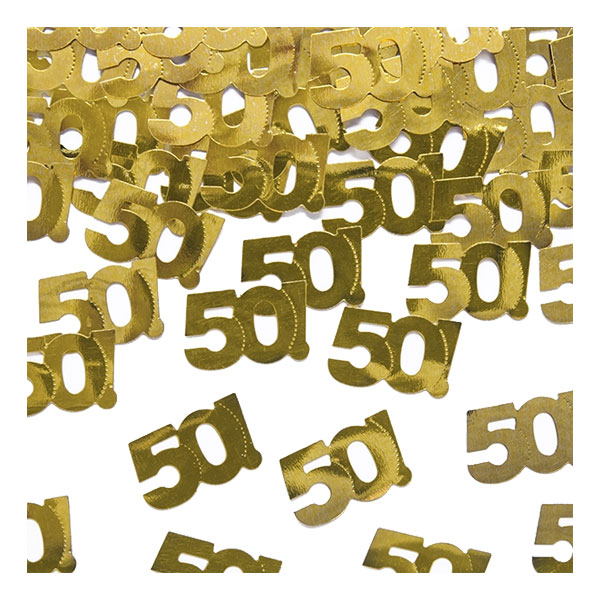 Konfetti Guld 50